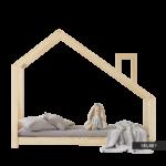 Hausbett 100x200 Kinderbett Dalidda Mit Schornstein Bett Weiß Betten Wohnzimmer Hausbett 100x200