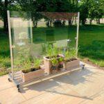 Paravent Balkon Hornbach Wohnzimmer Glas Windschutz Auf Rollen Glasprofi24 Paravent Garten