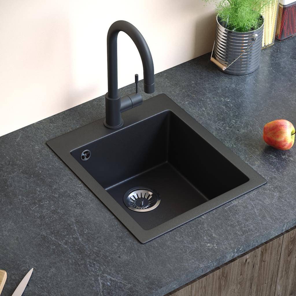 Full Size of Bergstrm Granit Sple Kchensple Einbausple Splbecken Schwarzes Bett 180x200 Schwarz Weiß Schwarze Küche Wohnzimmer Spülstein Schwarz