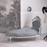 Recamiere Barock Wohnzimmer Recamiere Barock Rot Chaiselongue Diplomatie Boudoir Sofa Samt Antik Couch Liege Daybed Rokoko Bett Mit