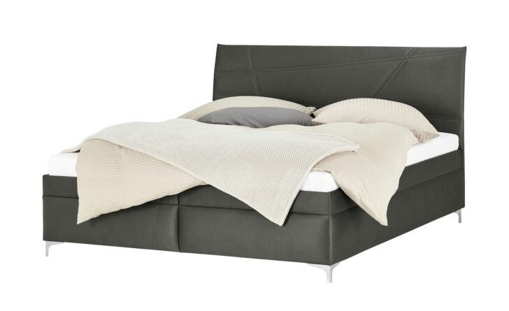 Medium Size of Komplettbett 180x220 Polsterbett Lerryn Grau Mae Cm B 186 H 110 T 215 Betten Bett Wohnzimmer Komplettbett 180x220