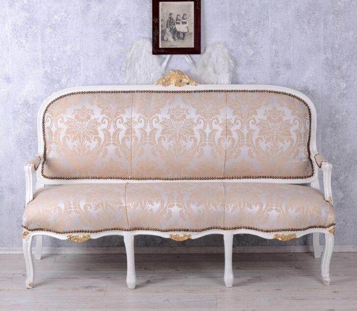 Recamiere Barock Franzsische Barockes Sofa Salonsofa Weiss Sitzbank Bett Mit Wohnzimmer Recamiere Barock