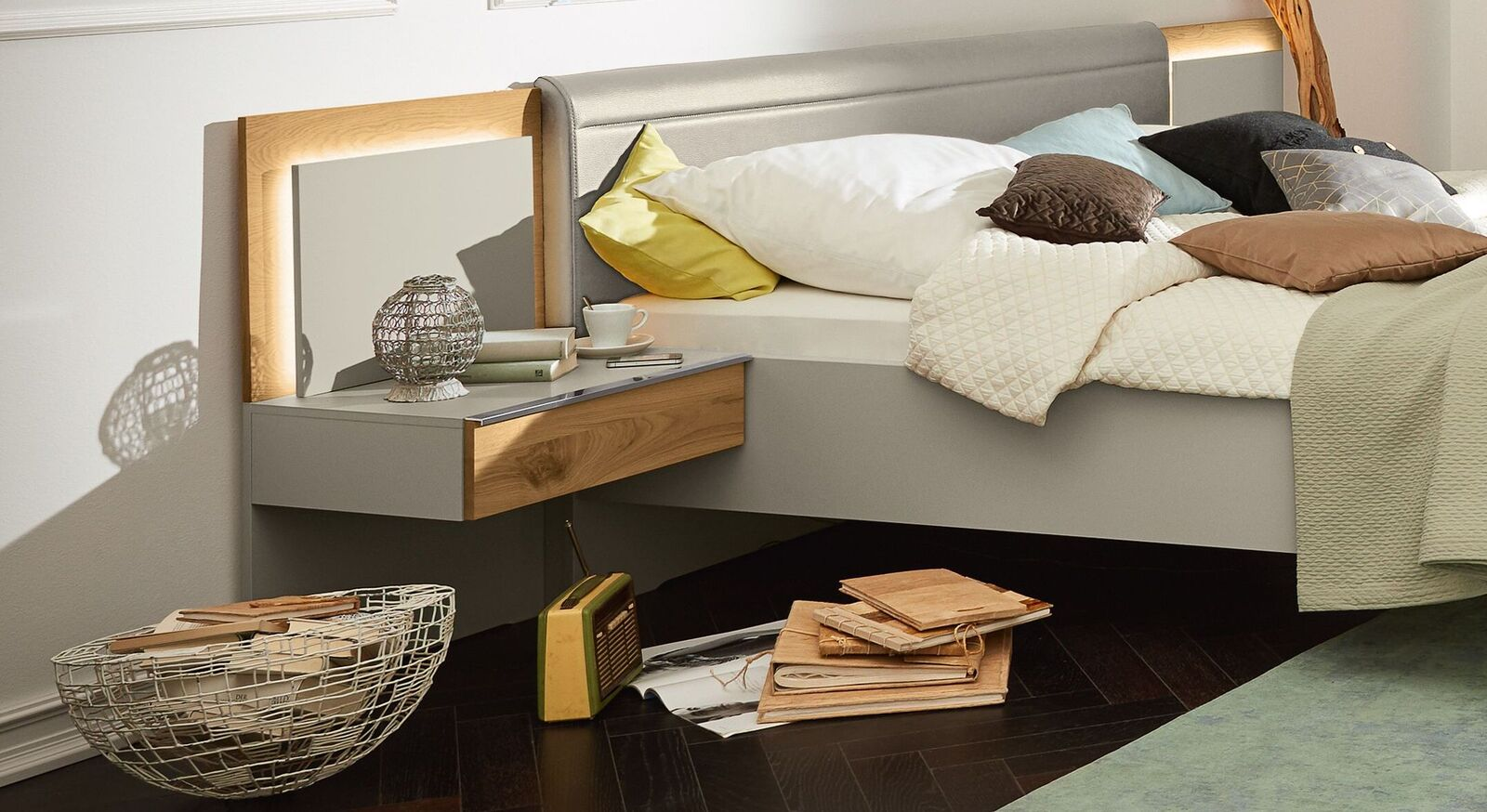 Full Size of Musterring Saphira Schlafzimmer 4 Tlg In Grau Eiche Furnier Betten Esstisch Wohnzimmer Musterring Saphira