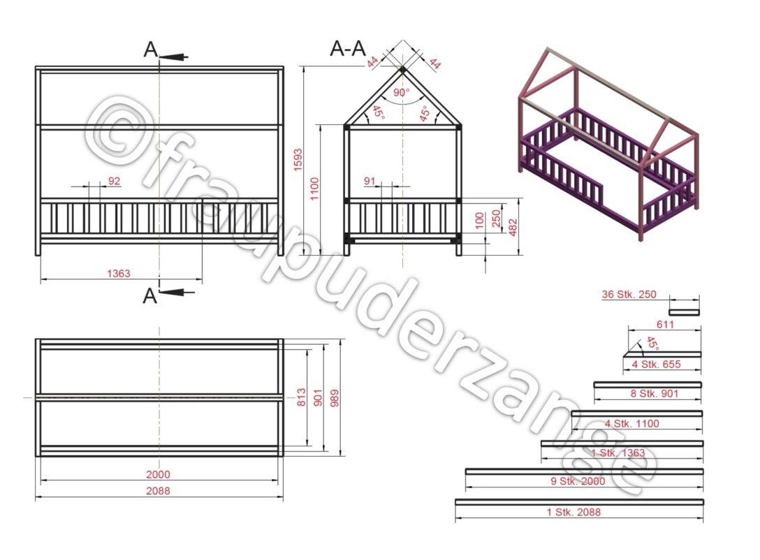 Large Size of Hausbett 100x200 Diy Fr Bett Betten Weiß Wohnzimmer Hausbett 100x200