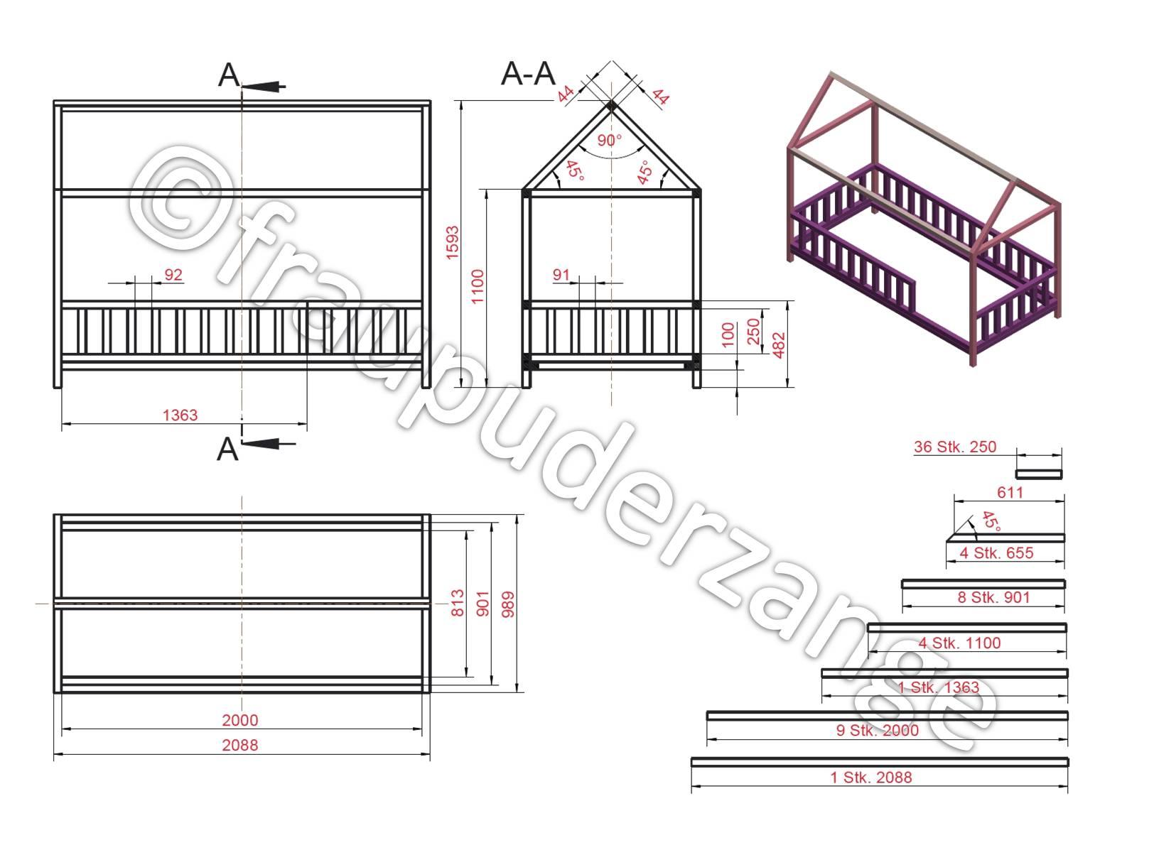 Full Size of Hausbett 100x200 Diy Fr Bett Betten Weiß Wohnzimmer Hausbett 100x200