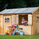 Spielhaus Garten Kunststoff Holz Kinderspielhaus Küche Ausstellungsstück Bett Wohnzimmer Spielhaus Ausstellungsstück