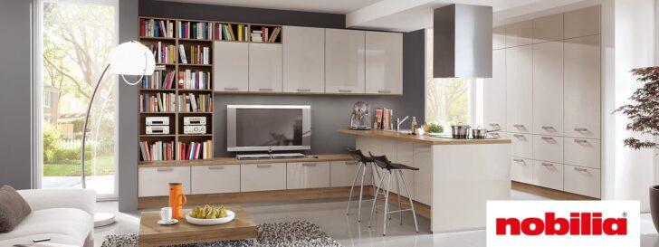 Medium Size of Nobilia Luhochglanz Trifft Auf Gradliniges Design Ottoversand Betten Küche Einbauküche Wohnzimmer Nobilia Sand