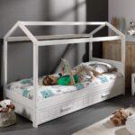Hausbett 100x200 Mit Unterbett Bettkasten Real Vitalispa 90x200 Bett Betten Weiß Wohnzimmer Hausbett 100x200