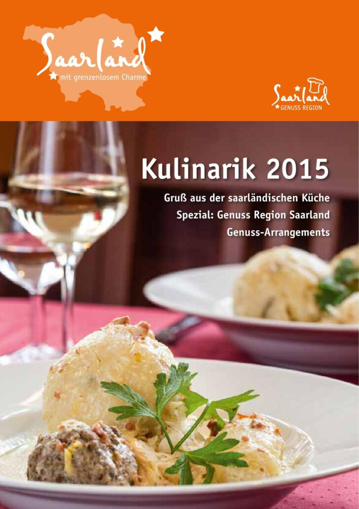 Medium Size of Kulinarisches Saarland 2015 By Tourismus Zentrale Unterschränke Küche Hängeschrank Glastüren Laminat Hängeschränke Segmüller Barhocker Wohnzimmer Küche Zu Verschenken Saarland