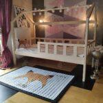 Hausbett 100x200 Kinderbett Huschenbett Holzbett Kinderhaus Bett Weiß Betten Wohnzimmer Hausbett 100x200