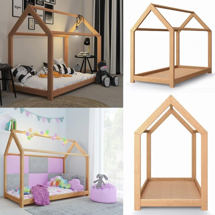 Medium Size of Hausbett 100x200 Vitalispa Kinderbett Kinderhaus Natur 90 200 Cm Real Betten Bett Weiß Wohnzimmer Hausbett 100x200