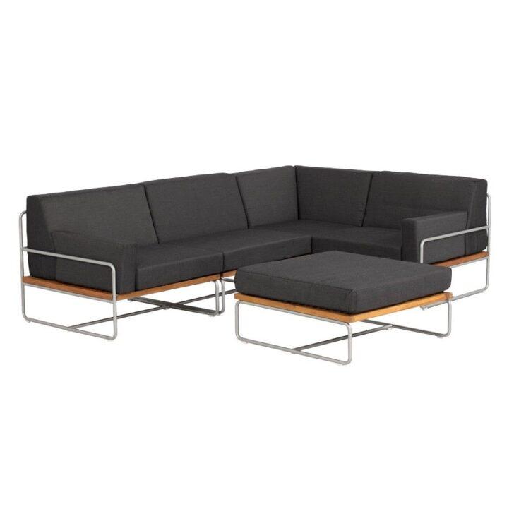 Medium Size of Outliv Largo Loungeecke 5 Teilig Stahl Akazie Mit Kissen Lounge Wohnzimmer Outliv Odense
