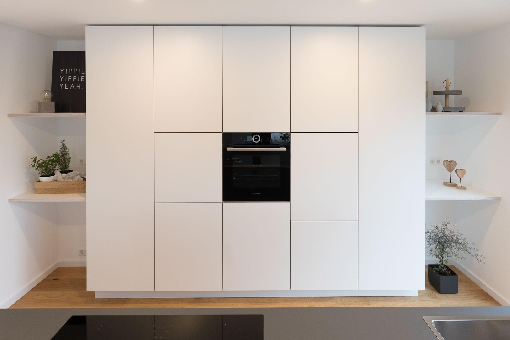 Full Size of Splmaschine Grifflose Kche Wei Hcker Mit Insel Ikea Müllsystem Küche Wohnzimmer Häcker Müllsystem