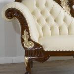 Recamiere Barock Wohnzimmer Barock Recamiere Chaiselongue Diplomatie Boudoir Rot Joana Englischer Stil Sofa Walnuss Bett Mit
