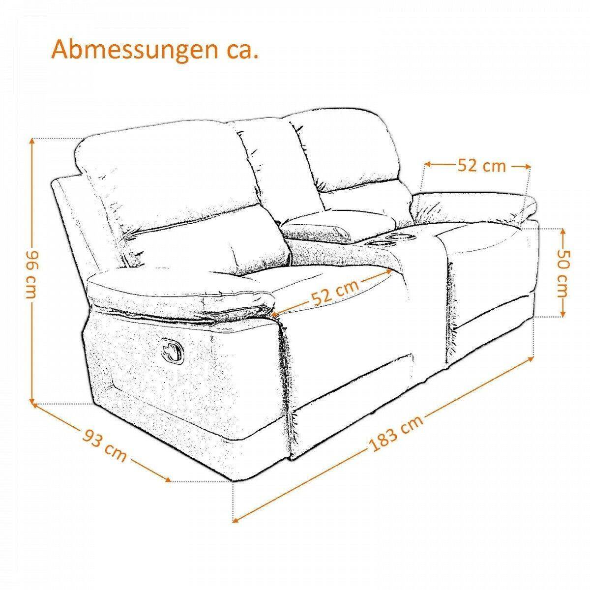 Full Size of Kinosessel 2er Microfaser Sofa Grau Wohnzimmer Kinosessel 2er Microfaser