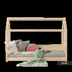 Hausbett 100x200 Kinderbett Dalidda Mit Fallschutz Bett Weiß Betten Wohnzimmer Hausbett 100x200