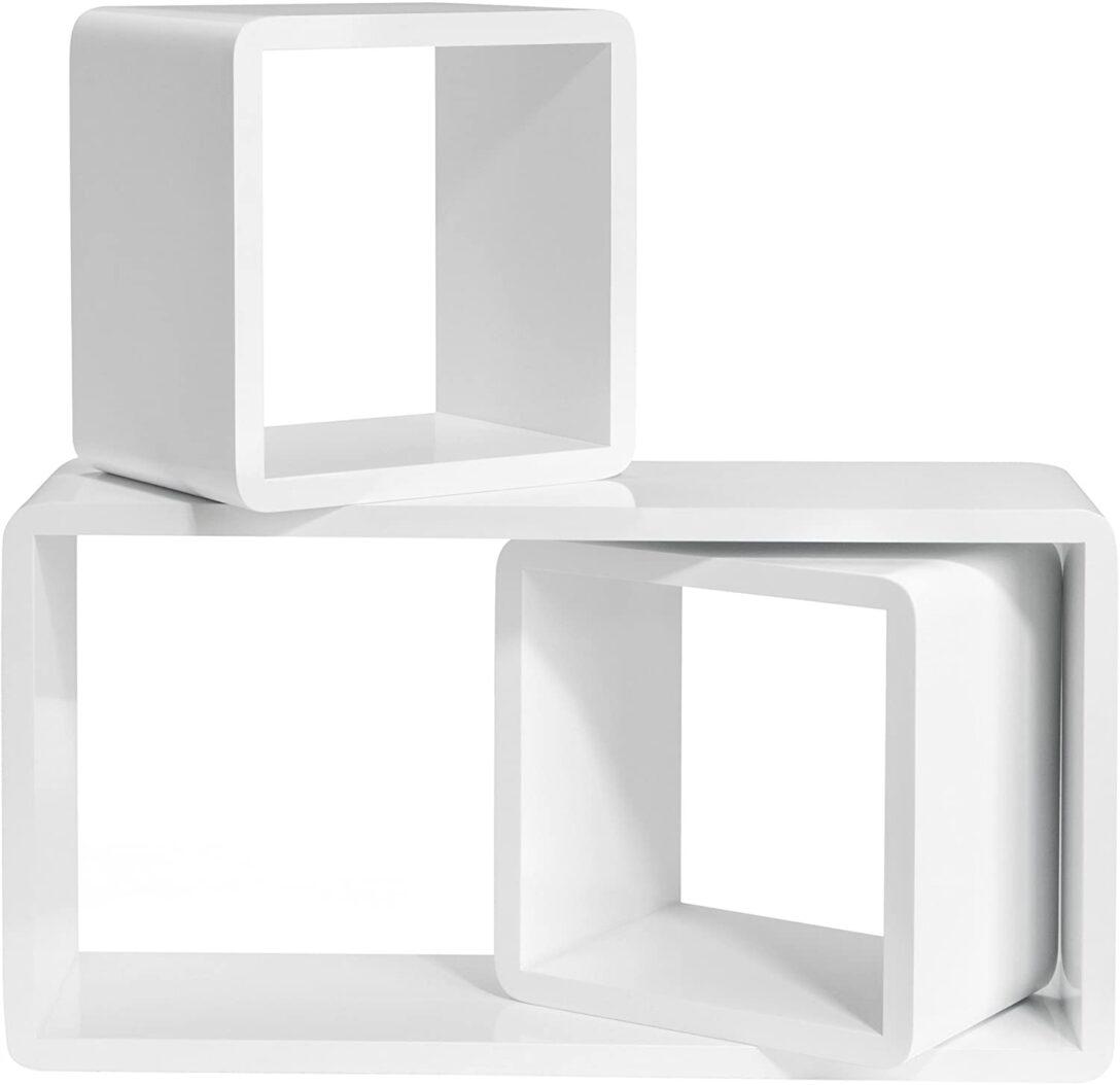 Large Size of Amazonde Songmics Wandregal 3er Set Cube Regal Schweberegale Aus Weinkisten Bett 120x200 Weiß 200x200 Holzregal Badezimmer Dachschräge 180x200 Mit Rollen Wohnzimmer Cube Regal Weiß Hochglanz