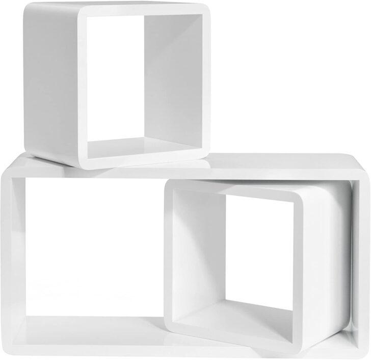 Medium Size of Amazonde Songmics Wandregal 3er Set Cube Regal Schweberegale Aus Weinkisten Bett 120x200 Weiß 200x200 Holzregal Badezimmer Dachschräge 180x200 Mit Rollen Wohnzimmer Cube Regal Weiß Hochglanz