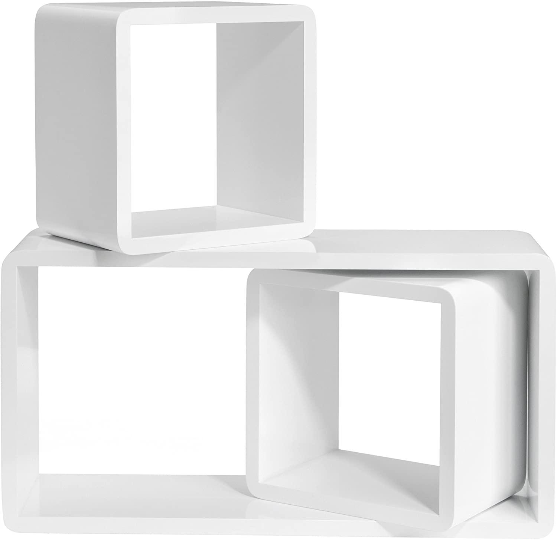 Full Size of Amazonde Songmics Wandregal 3er Set Cube Regal Schweberegale Aus Weinkisten Bett 120x200 Weiß 200x200 Holzregal Badezimmer Dachschräge 180x200 Mit Rollen Wohnzimmer Cube Regal Weiß Hochglanz
