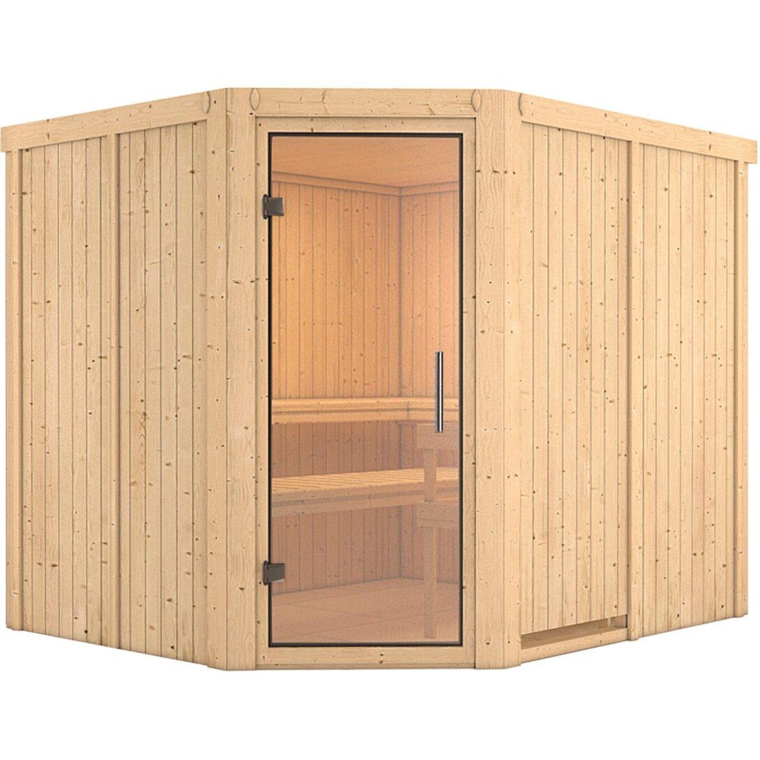 Large Size of Karibu Sauna Maarja Mit Glastr Kaufen Bei Obi Nobilia Küche Mobile Fenster Immobilienmakler Baden Einbauküche Regale Immobilien Bad Homburg Wohnzimmer Saunaholz Obi