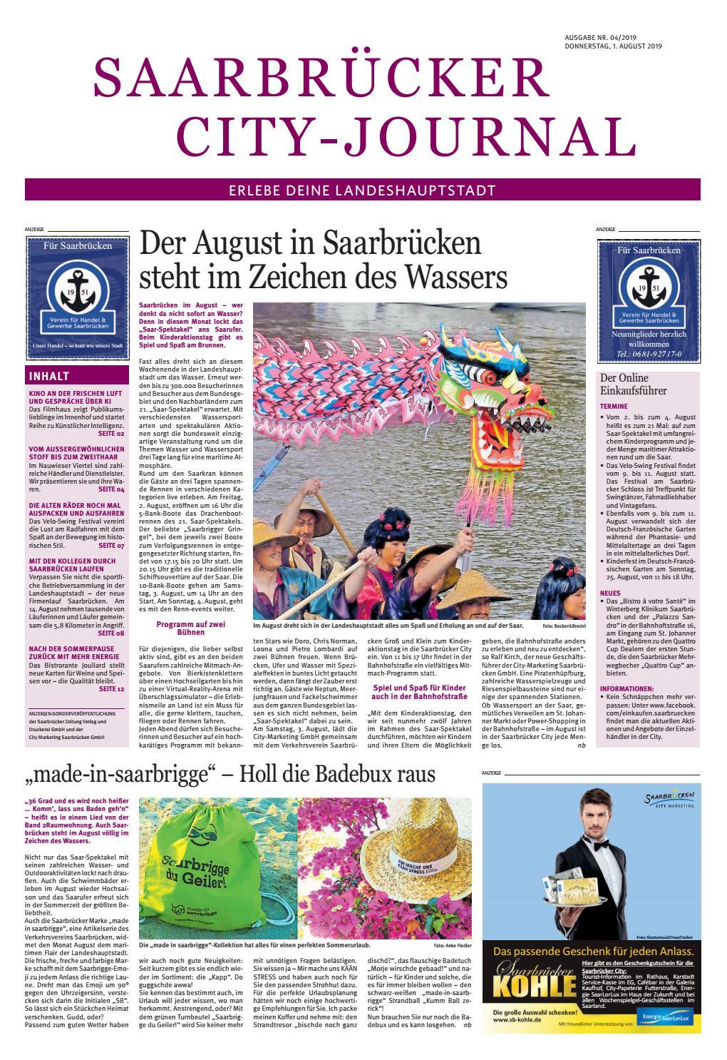 Full Size of Küche Zu Verschenken Saarland Saarbrcker City Journal Ausgabe Nr 04 2019 By Doppelblock Modul Barhocker Single Wandbelag Polsterbank Essplatz Stengel Wohnzimmer Küche Zu Verschenken Saarland