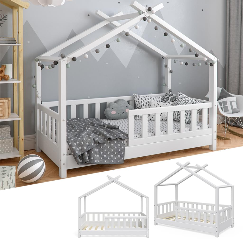Full Size of Hausbett 100x200 Kinderbett Design Wei 70x140cm Zaun Real Bett Mit Weiß Betten Wohnzimmer Hausbett 100x200