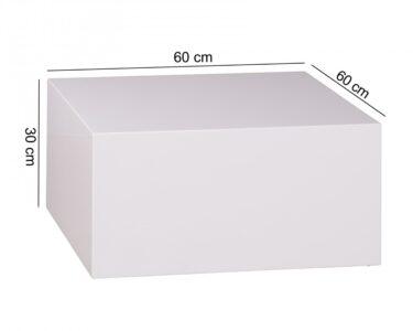 Cube Regal Weiß Hochglanz Wohnzimmer Couchtisch Monobloc 60 30 Cm Hochglanz Mdf Wei Lackiert Regal Für Kleidung Weißes Sofa Zum Aufhängen Schlafzimmer Weißer Esstisch Metall Weiß Kleine