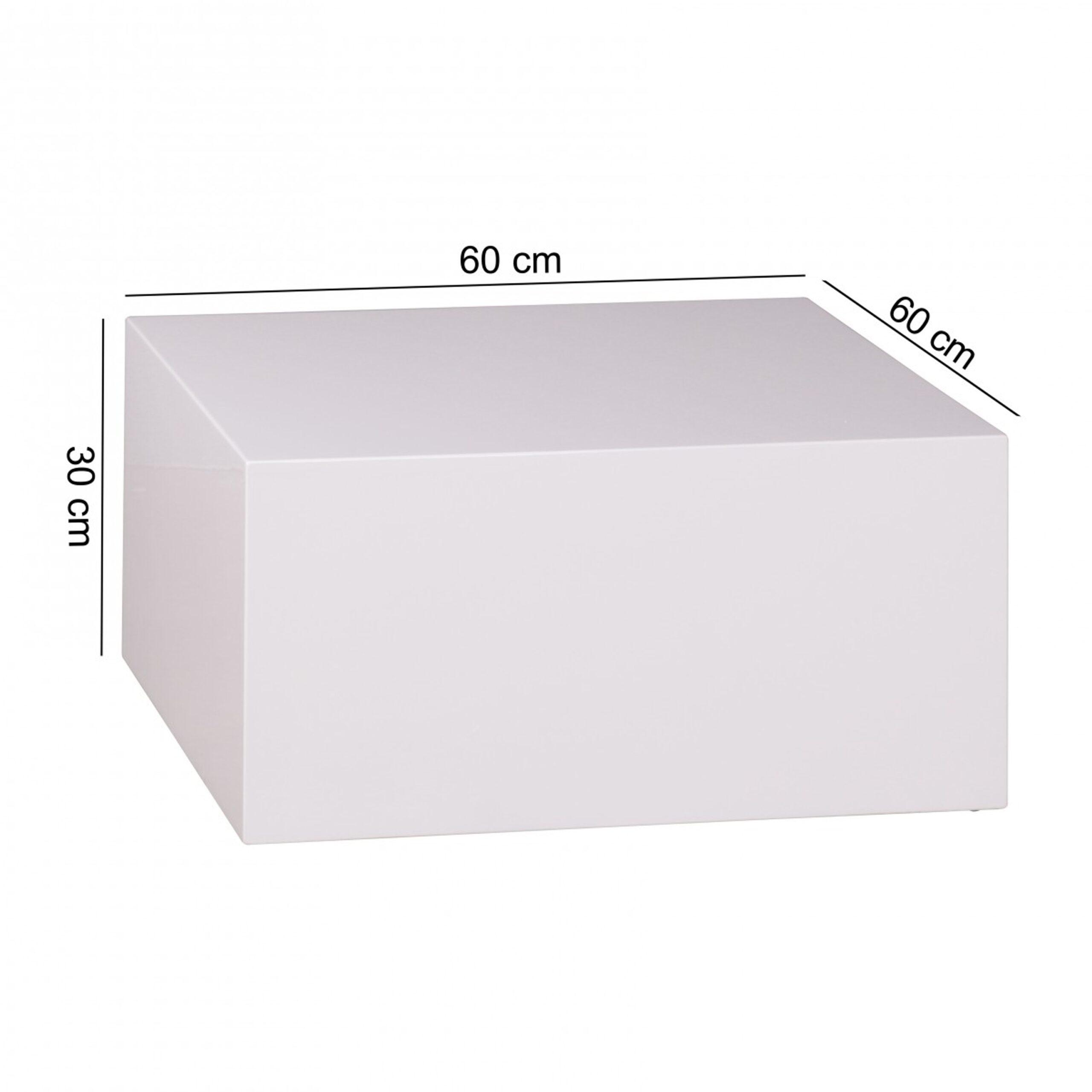 Full Size of Couchtisch Monobloc 60 30 Cm Hochglanz Mdf Wei Lackiert Regal Für Kleidung Weißes Sofa Zum Aufhängen Schlafzimmer Weißer Esstisch Metall Weiß Kleine Wohnzimmer Cube Regal Weiß Hochglanz