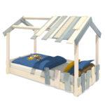 Thumbnail Size of Hausbett 100x200 Wickey Kinderbett Crazy Beach Plane Holzbett 90 200 Bett Weiß Betten Wohnzimmer Hausbett 100x200