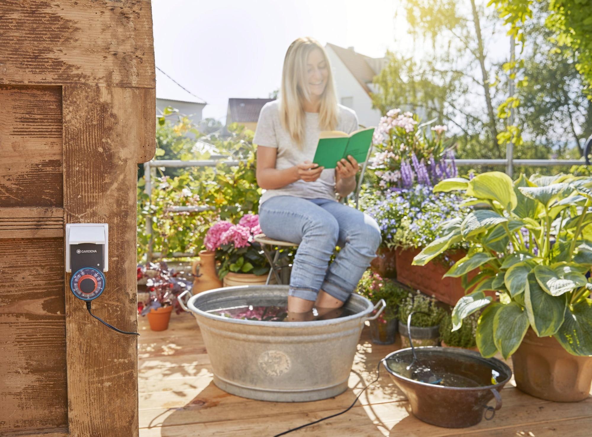 Full Size of Bewässerung Balkon Gardena Vollautomatische Blumenkastenbewsserung Bewässerungssysteme Garten Test Bewässerungssystem Automatisch Wohnzimmer Bewässerung Balkon