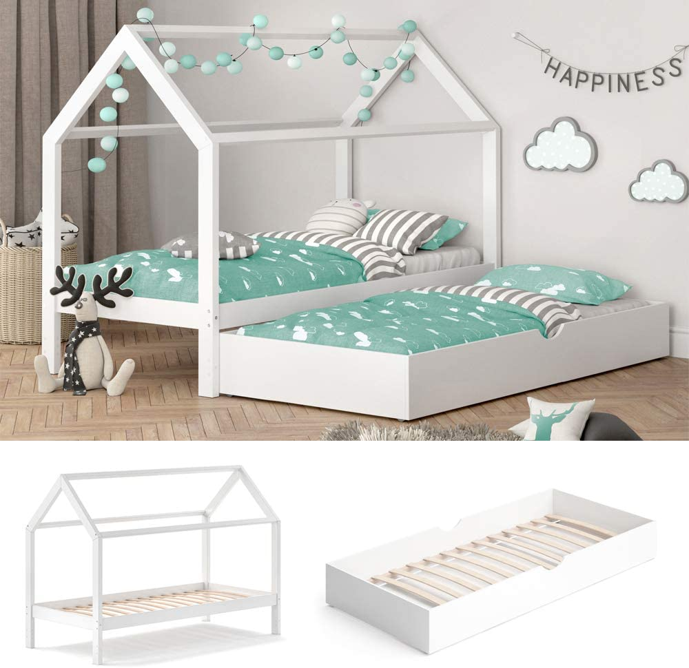 Full Size of Hausbett 100x200 Vicco Kinderbett Wiki 90x200 Cm Wei Schlafplatz Schubladen Betten Bett Weiß Wohnzimmer Hausbett 100x200