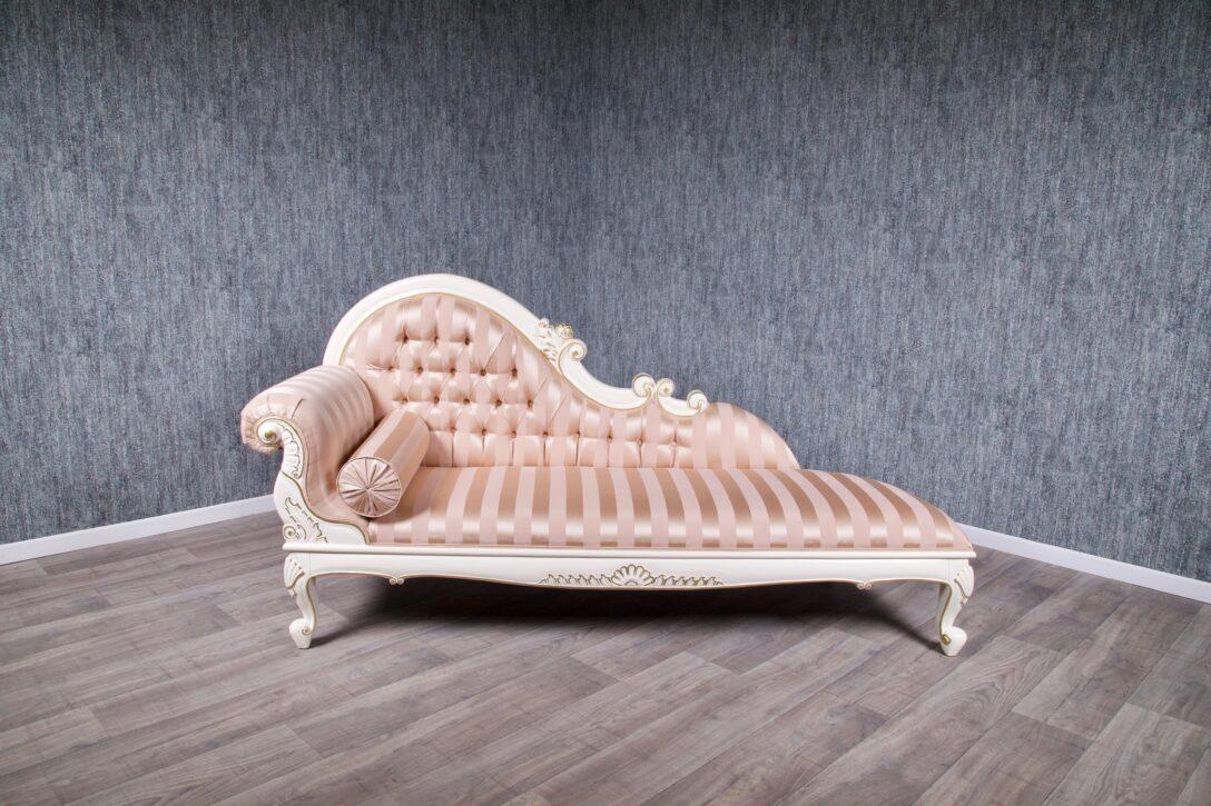 Large Size of Recamiere Barock Rot Boudoir Diplomatie Chaiselongue Modena 2229 In Elfenbein Mit Leichtem Gold Dekor Sofa Bett Wohnzimmer Recamiere Barock