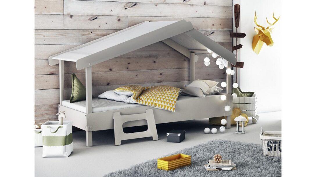 Large Size of Hausbett 100x200 90x200 Waldhtte Grau Furnart Betten Bett Weiß Wohnzimmer Hausbett 100x200