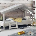 Hausbett 100x200 90x200 Waldhtte Grau Furnart Betten Bett Weiß Wohnzimmer Hausbett 100x200