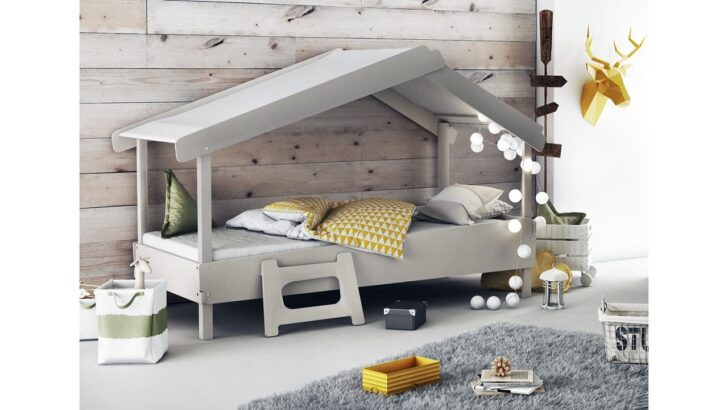Medium Size of Hausbett 100x200 90x200 Waldhtte Grau Furnart Betten Bett Weiß Wohnzimmer Hausbett 100x200