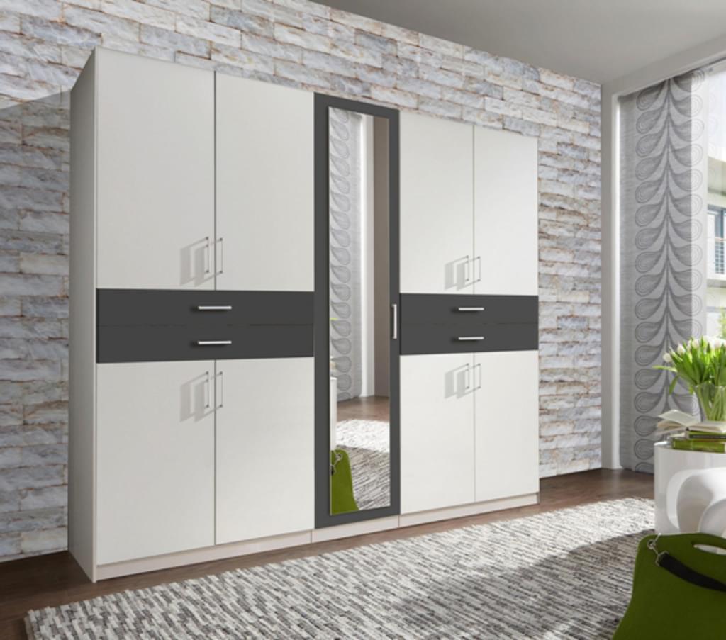 Full Size of Kleiderschrank Schlafzimmer Schrank Taiga Wei A Real Komplett Mit Regal Wohnzimmer Kleiderschrank Real