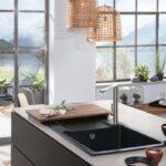 Schwarze Sple Kchensplen In Der Dunklen Trendfarbe Kchenfinder Schwarzes Bett 180x200 Schwarz Weiß Küche Wohnzimmer Spülstein Schwarz