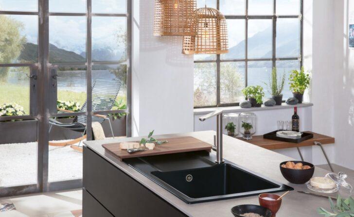Medium Size of Schwarze Sple Kchensplen In Der Dunklen Trendfarbe Kchenfinder Schwarzes Bett 180x200 Schwarz Weiß Küche Wohnzimmer Spülstein Schwarz