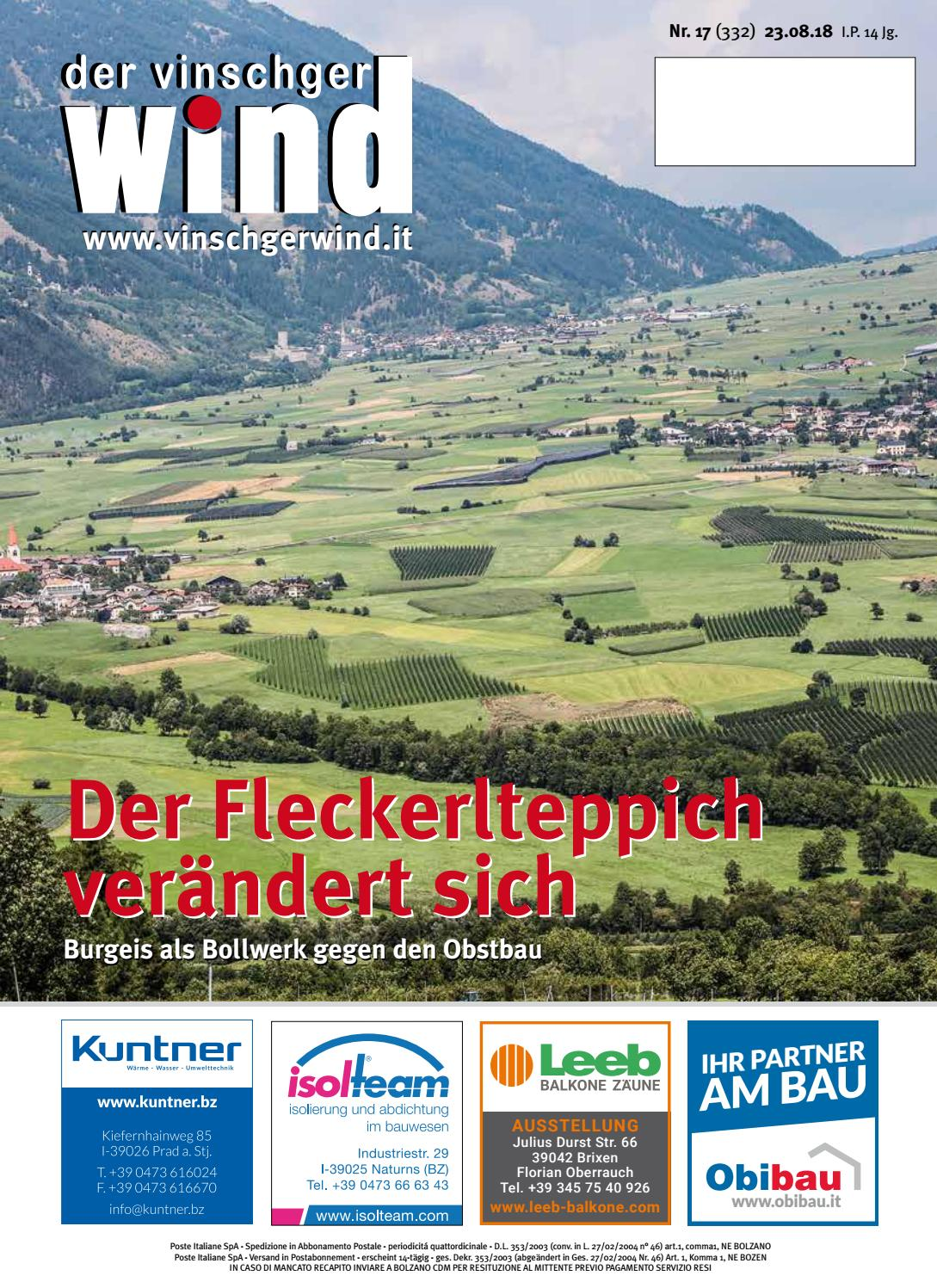 Full Size of Schlafstudio Helm Preise Zeitung Vinschgerwind 17 18 Vom 23082018 Vinschgau Sdtirol By Wohnzimmer Schlafstudio Helm