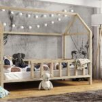 Kinderbett Hausbett Mit Rausfallschutz Holz Bett 100x200 Weiß Betten Wohnzimmer Hausbett 100x200