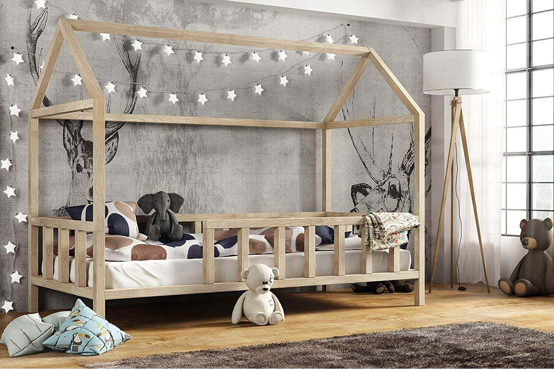 Full Size of Kinderbett Hausbett Mit Rausfallschutz Holz Bett 100x200 Weiß Betten Wohnzimmer Hausbett 100x200