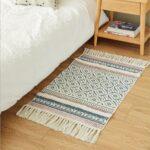 Teppich Waschbar Marokko Baumwolle Hand Gewebt Gedruckt Bereich Tufted Wohnzimmer Steinteppich Bad Esstisch Schlafzimmer Küche Teppiche Für Wohnzimmer Teppich Waschbar