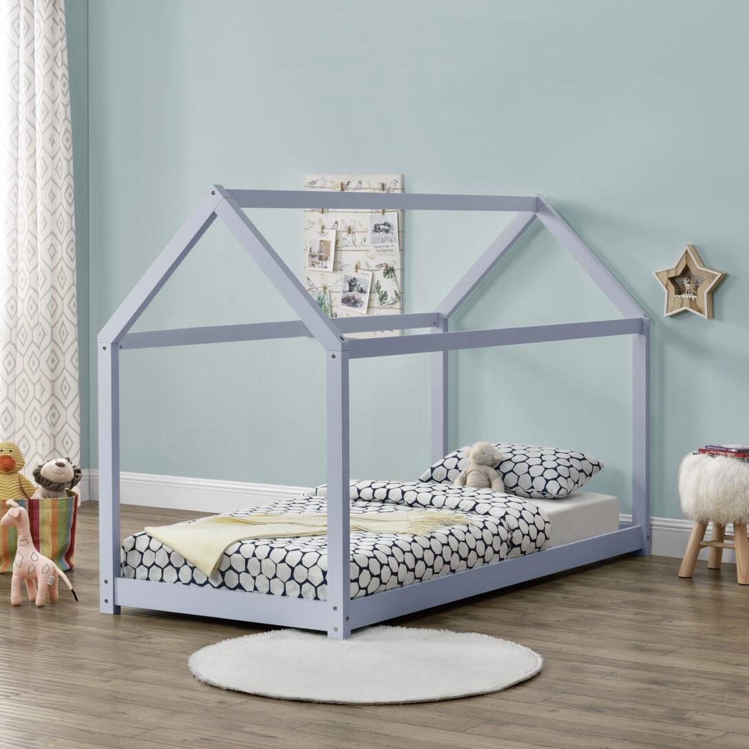 Large Size of Hausbett 100x200 Encasa Kinderbett 90x200cm Haus Holz Hellgrau Bettenhaus Bett Weiß Betten Wohnzimmer Hausbett 100x200