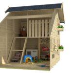 Kinderspielhaus Tom B220 T180 H228 Cm Spielhaus Kinderhaus Bett Ausstellungsstück Küche Garten Holz Kunststoff Wohnzimmer Spielhaus Ausstellungsstück