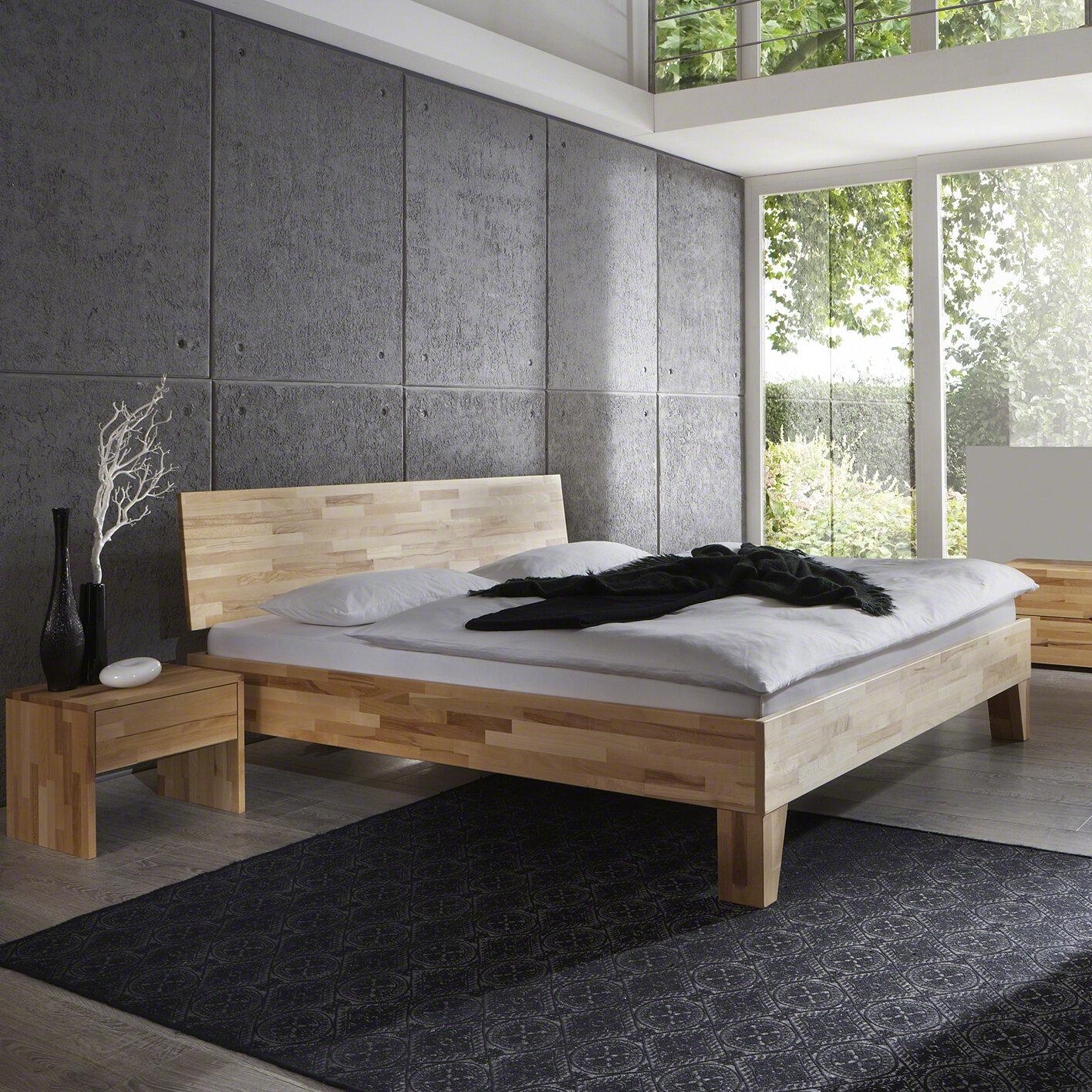 Full Size of Komplettbett 180x220 Gracie Oaks Massivholzbett Obi Wayfairde Bett Wohnzimmer Komplettbett 180x220