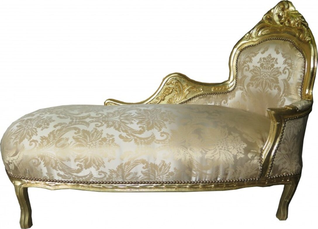 Large Size of Recamiere Barock Casa Padrino Chaiselongue Creme Gold Muster Sofa Bett Mit Wohnzimmer Recamiere Barock