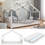 Hausbett 100x200 Vitalispa Kinderbett Design 90x200cm Real Bett Weiß Betten Wohnzimmer Hausbett 100x200
