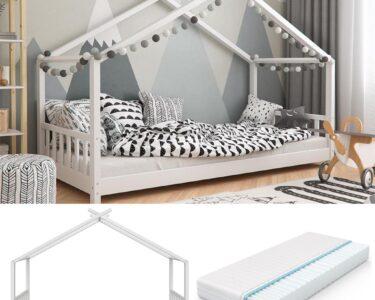 Hausbett 100x200 Wohnzimmer Hausbett 100x200 Vitalispa Kinderbett Design 90x200cm Real Bett Weiß Betten