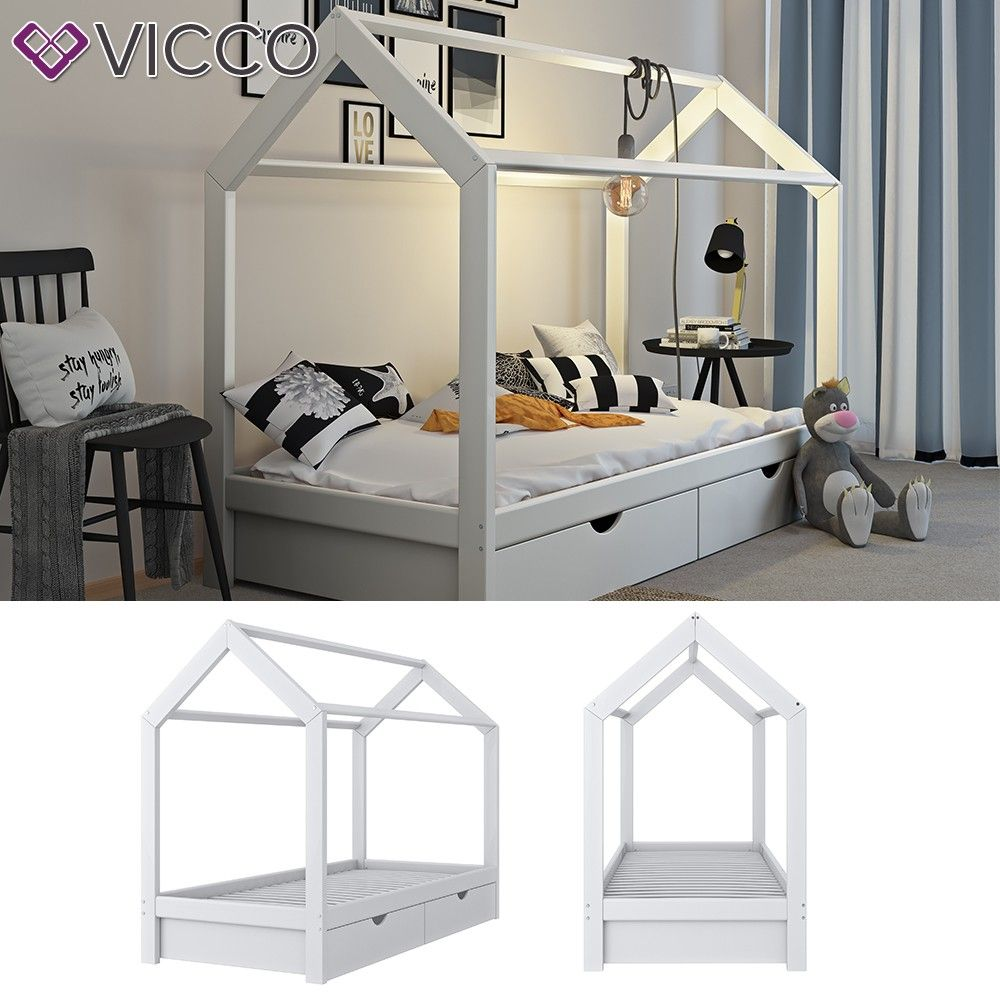 Full Size of Vitalispa Kinderbett Wiki 90x200 Cm Wei Schubladen Hausbett Holz Betten 100x200 Bett Weiß Wohnzimmer Hausbett 100x200