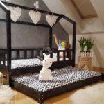 Bett Hausbett Bella Mit Sicherheitbarieren Zweites Betten 100x200 Weiß Wohnzimmer Hausbett 100x200